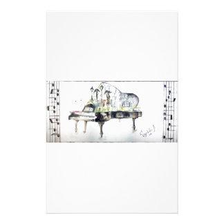 Piano à queue papier à lettre customisé
