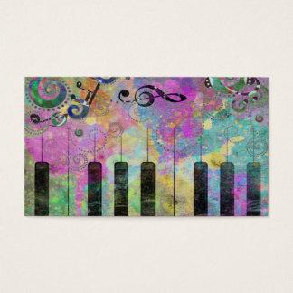 Piano coloré d'éclaboussures fraîches de couleurs cartes de visite