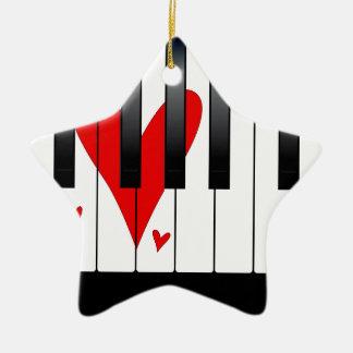 Piano d'amour ornement étoile en céramique