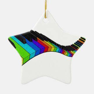 Piano d'arc-en-ciel ornement étoile en céramique