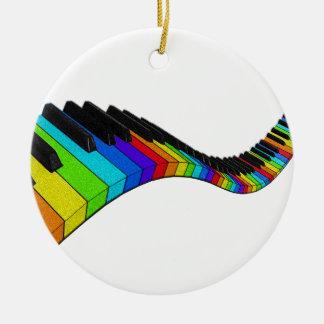 Piano d'arc-en-ciel ornement rond en céramique