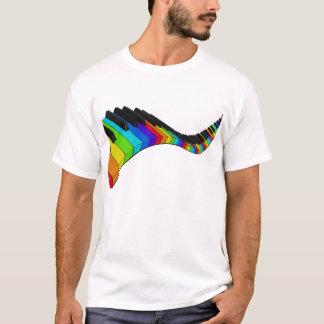 Piano d'arc-en-ciel t-shirt