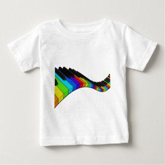 Piano d'arc-en-ciel t-shirt pour bébé