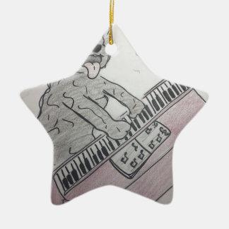 piano de chiot ornement étoile en céramique