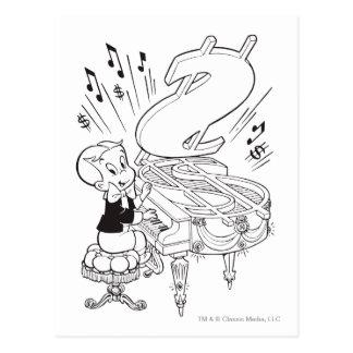 Piano de jeu riche de Richie - B&W Carte Postale