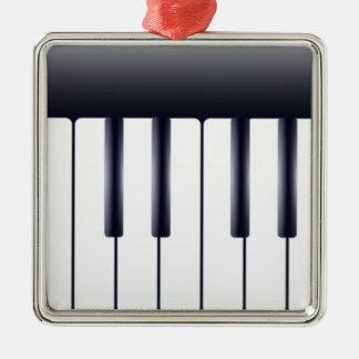 Piano électrique ornement carré argenté