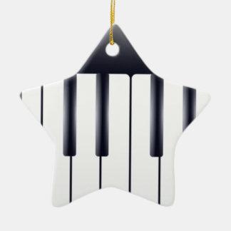 Piano électrique ornement étoile en céramique