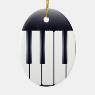 Piano électrique ornement ovale en céramique