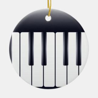 Piano électrique ornement rond en céramique