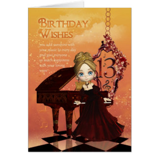 Piano et carte d'anniversaire de musique 13ème ave