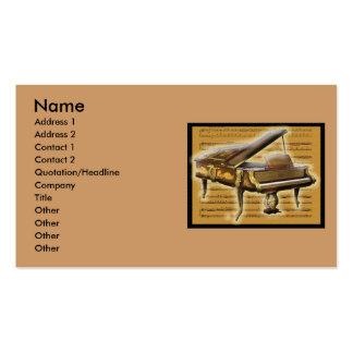 Piano et notation antiques carte de visite standard