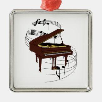 Piano Ornement Carré Argenté