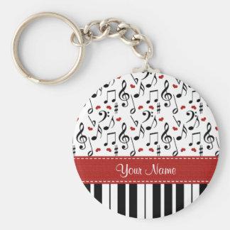 Piano personnalisé Keychain de note de musique Porte-clef