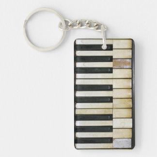 Piano vintage porte-clé rectangulaire en acrylique double face