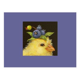 piaulement avec la carte postale 2 de myrtilles