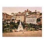 Piazza Acqua Verde (endroit vert de l'eau), Gênes, Cartes Postales