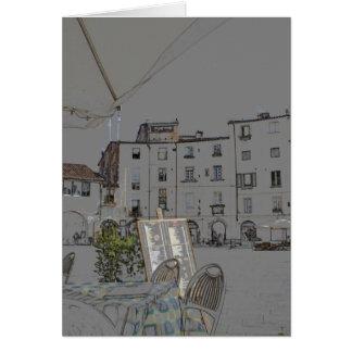 Piazza Anfiteatro à Lucques, Italie Cartes De Vœux