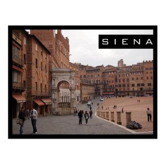 Piazza del Campo, carte postale noire de cadre de