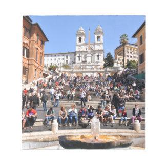 Piazza di Spagna, Rome, Italie Bloc-note