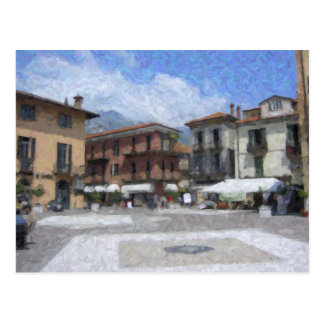 Piazza, Menaggio, carte postale de l'Italie