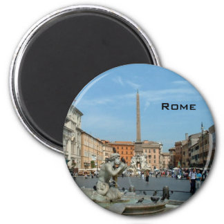 Piazza Navona - Rome Magnet Rond 8 Cm