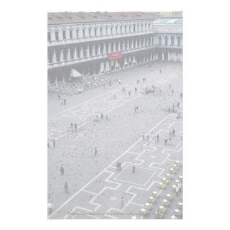 Piazza San Marco avec le café extérieur sur la dro Papier À Lettre Personnalisable