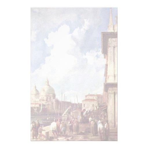 Piazzetta à Venise par Canaletto Papier À Lettre Personnalisé