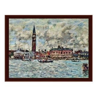 Piazzetta de San Marco à Venise par Boudin Eugène Carte Postale