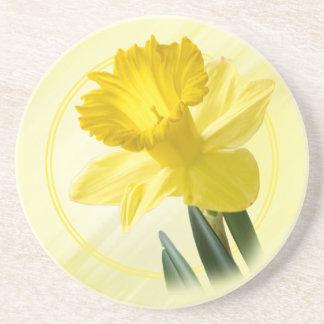 PIC florale de nature de jonquille de jaune de Dessous De Verre