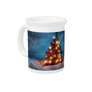 Pichet Arbre de Noël - décorations de Noël - flocons de