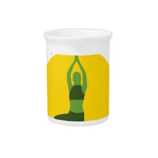 Pichet Arbre vert de yoga