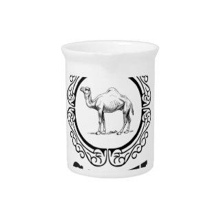Pichet art de logo de chameau