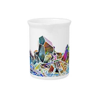Pichet Aura en cristal curative d'arc-en-ciel d'art de