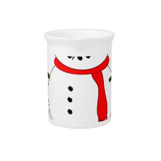 Pichet Bonhomme de neige de Joyeux Noël
