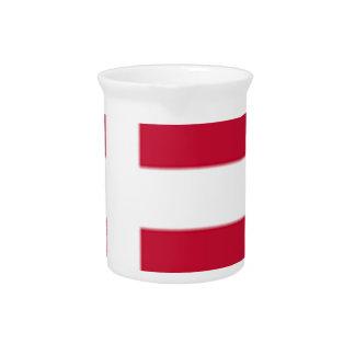 Pichet Bonne copie de drapeau du Danemark de couleur
