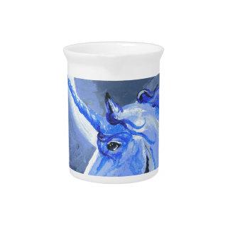 Pichet Cheval de licorne de lune bleue, poney, Pegasus,