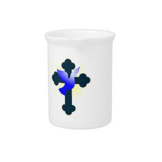 Pichet Colombe et croix