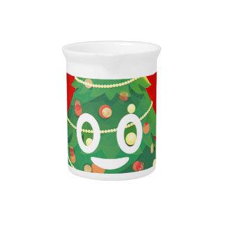 Pichet Conception d'arbre de Noël d'Emoji