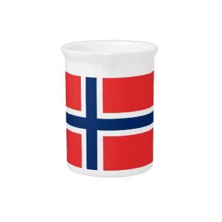 Pichet Coût bas ! Drapeau de la Norvège