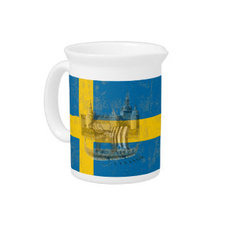 Pichet Drapeau et symboles de la Suède ID159