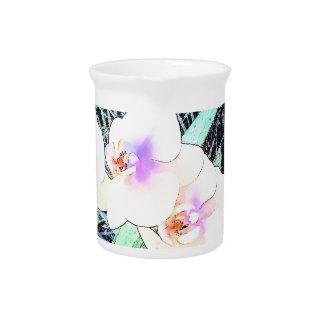 Pichet Fleurs colorées d'orchidée