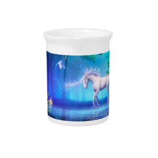 Pichet Forêt magique et mystique de bleu d'UnicornsThe