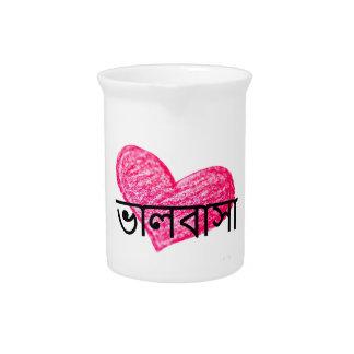 Pichet Langue bengali de conception d'amour