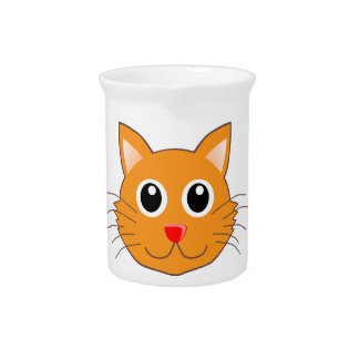 Pichet Le chat orange au nez rouge