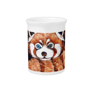 Pichet Le panda rouge concernent le cubisme orange