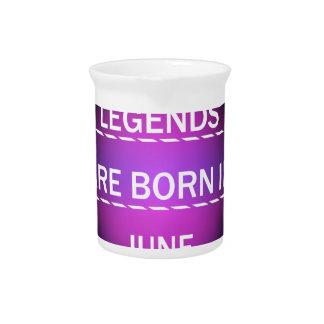 Pichet Les légendes sont nées en juin