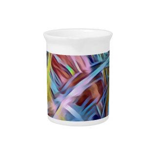 Pichet Mèches d'arc-en-ciel d'art abstrait de cheveux