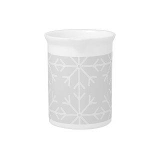 Pichet Motif de flocon de neige - gris et blanc