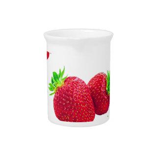 Pichet Motif de fruit de fraise