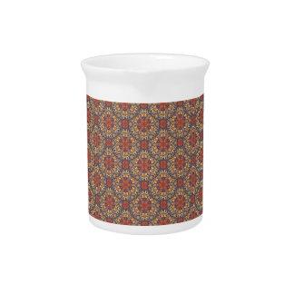 Pichet Motif floral ethnique abstrait coloré de mandala